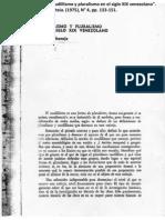 Caudillismo y Pluralismo en El Siglo XIX Venezolano Diego B
