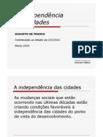 AindependênciadasCidades - Augusto de Franco