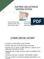 Técnicas Para Una Lactancia Materna Exitosa