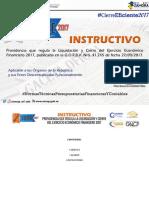 Instructivo de Liquidacion y Cierre 2017.pdf