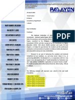2nd Audit Convention - Excuse Letter