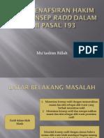 STUDI PENAFSIRAN HAKIM ATAS KONSEP RADD DALAM KHI.pptx