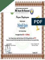 Piagam Rangking Ahmad Qais