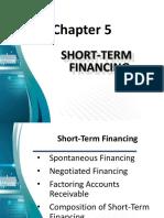 Chapter 5 - Short Term Financing