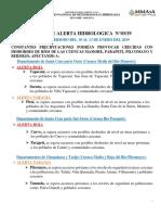 Alerta Hidrologica 08-01-2019