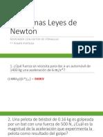 Problemas Leyes de Newton