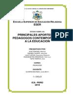 MONOGRAFÍA PRINCIPALES APORTES DE PEDAGOGOS CONTEMPORANEOS - ESER ICA 2019.docx