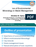 Environmental Mineralogy-PICE Reg 10 Technical Conference