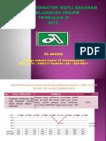 Laporan Indikator Mutu Skp Triwulan III 2016