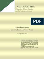 ZORZAL, Marcos F. - Criatividade e Ensino - uma abordagem histórico-cultural (Dissertação de Mestrado)