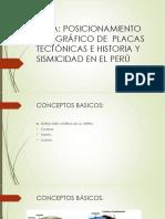 Posicionamiento Geográfico de Placas Tectónicas e Historia