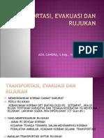 transportasi, evaluasi dan rujukan