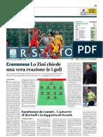 La Provincia Di Cremona 22-02-2019 - Cremonese