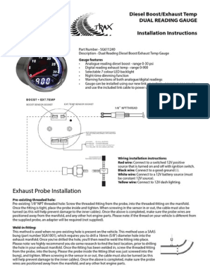 Trax Gauge Instructions - SG611240 Fixed | | Diesel Engine on 1990 skylark fuse diagram, yamaha outboard wiring diagram, temperature diagram,