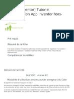 App Inventor Tutoriel Installation App Inventor Hors Ligne Fiche