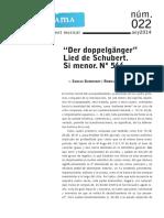 """Revista Sonograma -  Análisis del Lied  """"Der doppelgänger"""" de F. Schubert"""