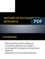 Nature of Accountancy Research 1