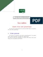 MATHEMATIQUES Premiere SUITES Limite Suite Geometrique