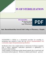 Validation of Sterilization -KDB
