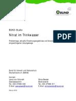 BUND Studie zum Nitrat im Grundwasser