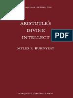 Burnyeat, Aristotle's Divine Intellect, Marquette UP 2008