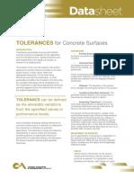Data Sheet Tolerance for Concrete Surfaces