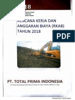 Persetujuan Rkab Iupop Pt Tpi 2018