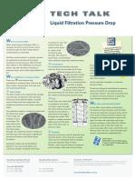 Tech Talk Liquid Filtration Pressure Drop