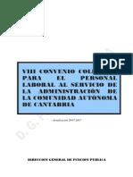 VIII CONVENIO COLECTIVO ADMINISTRACION CANTABRIA --  modificacion 20-07-17.pdf