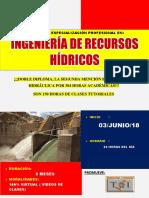 Brochure de Ingeniería de Recursos Hídricos 2018