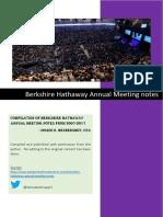 Berkshire Hathaway Meeting Notes (2007-2017)