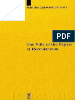 Zarmakoupi (Ed), The Villa of the Papyri at Herculaneum. Archaeology, Reception, And Digital Reconstruction, De Gruyter 2010