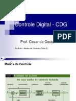 3.a Aula_CDG_Controle de Processo_ Modos de Controle