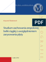 Studium zachowania zespolonej belki ciągłej z uwzględnieniem zarysowania płyty.pdf