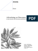 advertising in discourse
