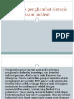 Antibiotik penghambat sintesis asam nukleat (tugas pak suher.pptx