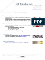Textual Analysis in Voyant Tools