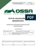 PETS - 003 Colocacion de Micropilotes Rev. 0