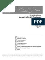 Manual Ricoh Definições Gerais