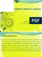 Out Come of HRD in Software Industry