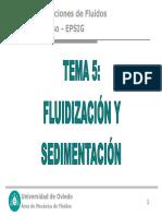FLUIDIZACIÓN Y SEDIMENTACIÓN