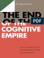 Boaventura de Sousa Santos - The End of the Cognitive Empire_ the Coming of Age of Epistemologies of the South-Duke University Press (2018)
