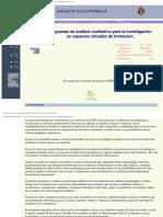 Programas de análisis cualitativo para la investigación en espacios virtuales de formación.
