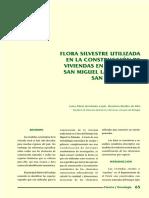 FLORA SILVESTRE UTILIZADA EN LA CONSTRUCCIÓN DE VIVIENDAS EN EL BIOTOPO SAN MIGUEL LA PALOTADA, SAN JOSÉ, PETÉN.