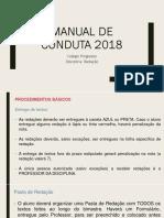 Manual de Conduta 2018 - Redação - Fund II.pptx