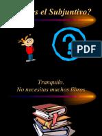 el subjuntivo en español
