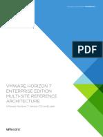 Vmware Horizon 7 Enterprise Edition Reference Architecture Multi Site