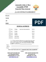 Memorial Mass Journal Ad 2019