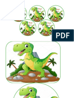 Etiquetas Dinosaurio Rex