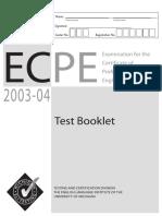 Original Ecpe Exam